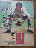 1971 RED SOX Fenway Park Boston Official Program & Scorecard - 32 NM Pages