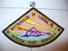 OA Natokiokan Lodge 41,1987 Winter Banquet,pp,396,106,120,279,Du Page Council,IL