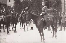 WWI RPPC Real Photo Postcard GERMAN ARTILLERY GENERAL SPIKED HELMET On HORSE 20