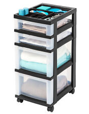 4 Drawer Storage Cabinet Organizer w/ Top & Casters Ideal for Students & Artists