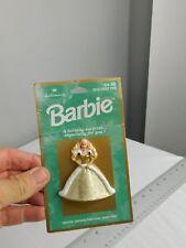 Barbie Hallmark Holiday Pin New On Card 1996