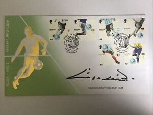 Eusebio signed 2006 World Cup FDC