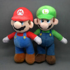 2 Pcs/Set New Super Mario Bros. Stand LUIGI & MARIO Plush Doll Stuffed Toy 10""