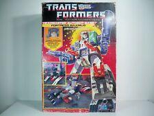 D2005084 FORTRESS MAXIMUS LOOSE W/ BOX TRANSFORMERS 1987 100% COMPLETE ORIGINAL