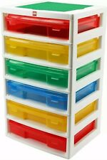LEGO Iris 6-Case Workstation & Storage Unit w/Two Base Plates - 6 Drawers