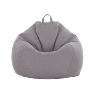 Ersatz Sofabezug Indoor Großer Sitzsack Stuhlbezug Schonbezug Grau