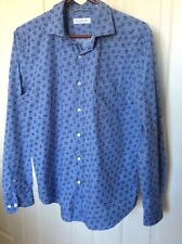 BRAND NEW WITHOUT TAGS - TRENERY MENS LONG SLEEVE BUTTON UP PRINT SHIRT - SIZE L