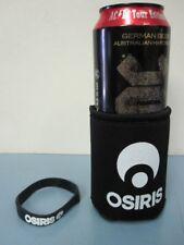Osiris Skateboard promo beverage can Koozie & Rubber Bracelet New Old Stock