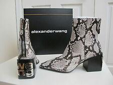 NIB $795 Alexander Wang Parker Logo Ankle Boots Bootie Snake print sz 40 9.5