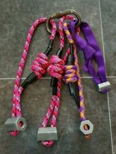 Clog Hexagon Nuts 1x Size 4, 3x Size 6 on rope - just rethreaded with new sling