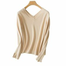 Winter Female Cashmere Women Pullover Fashions V-neck Slim Soft Wool Sweater New