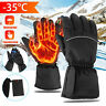 Electric Rechargeable Battery Touchscreen Winter Warm Heated Gloves Waterproof