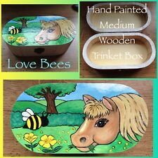 Love Bees Meadow Friends (Buttercup/Pony) Medium Wooden Trinket Box