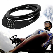 6mm x 550mm Spiral Cable 4 DIGIT Combination Lock for Bicycle Bike