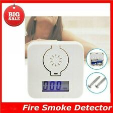 Carbon Monoxide Detector Fire Home Security Sensor Voice Alert Alarm 85 decibels