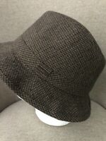 Stetson Mens Fedora Hat Wool Blend Brown Plaid Size Large RN 31905
