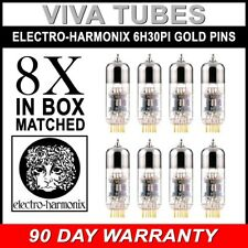 New Electro-Harmonix 6H30Pi GOLD PINS FACTORY Matched Octet (8) Vacuum Tubes