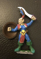 Warhammer Dark Elf - Marauder  Vintage Games Workshop Figure AD&D