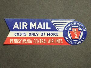 (1) mnh Pennsylvania-Central Airlines Luggage Cinderella Stamp label