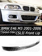CARBON FIBER 01-06 BMW E46 M3 CSL II TYPE FRONT LIP SPLITTER 2x2 WEAVE