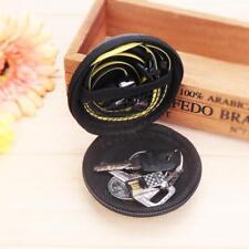 Portable Mini Round Hard Storage Case Bag for Earphone Headphone SD TF Cards