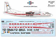 Revaro Decal An-24RV Tarom for Amodel kit 1/72