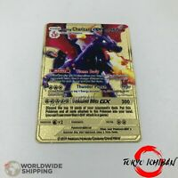 Carte Pokemon Metal Gold /  Dracaufeu - Charizard Shiny / GX EX Card Fan Made