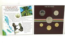 1983 Uncirculated Vanuatu Coin Set - 6 Coins - Royal Mint