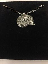 """Hedgehog R156 English Pewter on a Silver Platinum Plated Necklace 18"""""""