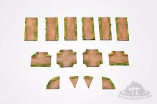 "Wargaming Scenery - RURAL ROAD Set -  14 pieces - 72"" - 28mm painted Bolt Action"