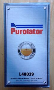 ONE (1) PUROLATOR OIL FILTER, L40039, MERCEDES BENZ, NEW