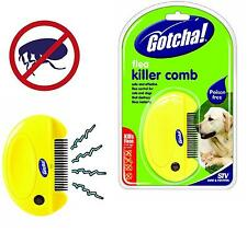 NEW ELECTRIC FLEA TICK KILLER GOTCHA! COMB FOR CATS AND DOGS CAT DOG YELLOW AAA