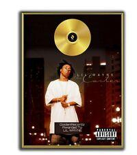 Lil Wayne Poster, Tha Carter GOLD/PLATINIUM CD, gerahmtes Poster HipHop Rap Wall