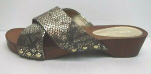 BCBGeneration Size 7 Gold Slides  Sandals New Womens Shoes