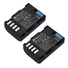2 pack Battery For PANASONIC DMW-BLF19 DMW-BLF19E Lumix DMC-GH3 DMC-GH4 2200mAh