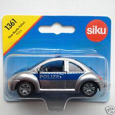 Siku 1361 VW New Beetle Polizei - silver/blue