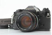 【Exc+5】Canon AE-1 Program Black Film Camera FD 50mm F/1.4 S.S.C Lens from JAPAN