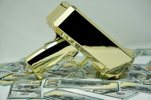 Cash Gun / Bill shooter / Money Gun / Metallic Plated Gold
