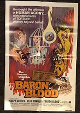 BARON BLOOD 1sh '72 Mario Bava, Cotton, Elke Sommer
