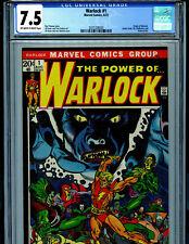 The Power of Warlock 1  CGC 7.5 1972  Marvel Comics 1st Soul Gem B28