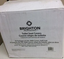 NEW Qty 5000/case Brighton Professional Half-Folded Toilet Seat Covers, BPR24775
