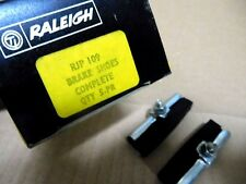 Raleigh Bicycle Rod Brake Pads pair w/Chrome Holders Long 62mm  NOS