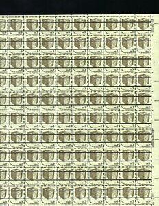 Full Sheet Pre Cancel 3 Cent Scott 1584a MNH