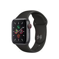 Apple Watch Gen 5 Series 5 Cell 40mm Space Gray Aluminum - Black Sport Band