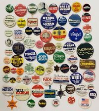 Huge Collection of 75 Illinois Local Campaign Buttons