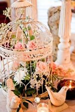 45cm High White Birdcage Wedding Centrepiece FOR EVENT DECOR HIRE ONLY!!!