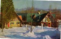 Vintage Postcard - 2 Of Santa's Workshops Adirondack Mountain New York NY #1795