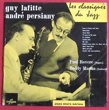 """GUY LAFITTE  ANDRE PERSIANY 10"""" 25CM  LP ORIG FR  LES CLASSIQUES DU JAZZ"""