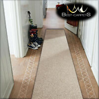 CHEAP RUNNER HALLWAY MODERN beige CORRIDOR width 50-100cm RUGS Feltback Carpets