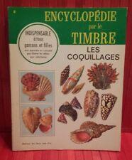 vintage 1967 Encyclopédie par le Timbre.# 8. les Coquillages  . sticker book